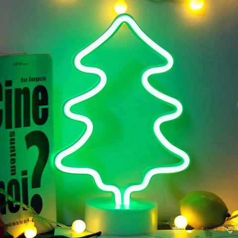 Holiday Tree Neon Table Lamp