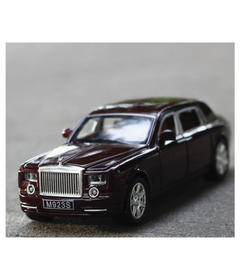 Electronic Rolls-Royce Phantom | 1:24 Alloy Diecast Car Model | Rich Red - Desktop Toy