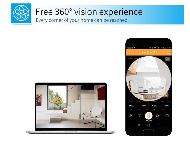 HD 360 Panoramic Wireless IP Camera - Wolrdiscounts