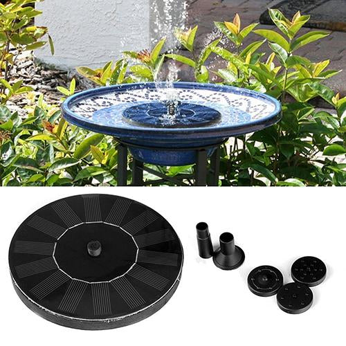 EASY SOLAR POWERED FLOATING FOUNTAIN - A GREAT ADDITION TO YOUR GARDEN!