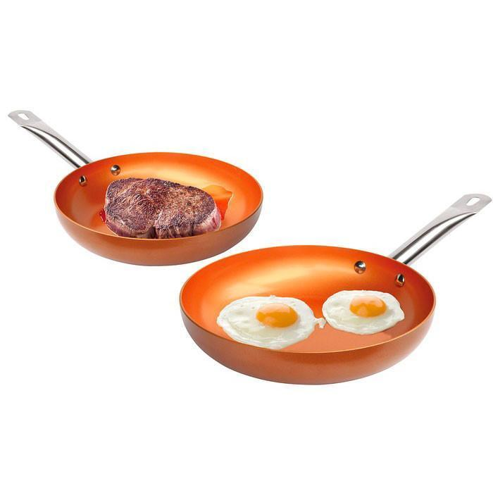Non-stick Copper Frying Pan - Wolrdiscounts