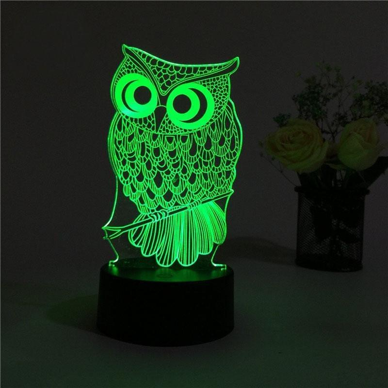 Owl 3D Led Lamp (60% OFF LIMITED TIME) - Wolrdiscounts