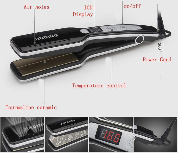 PROFESSIONAL STEAM HAIR STRAIGHTENER - Wolrdiscounts