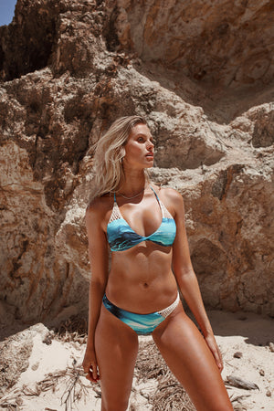Sea Waves Crochet Bikini Bottoms