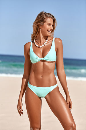 Mint Green Triangle Bikini
