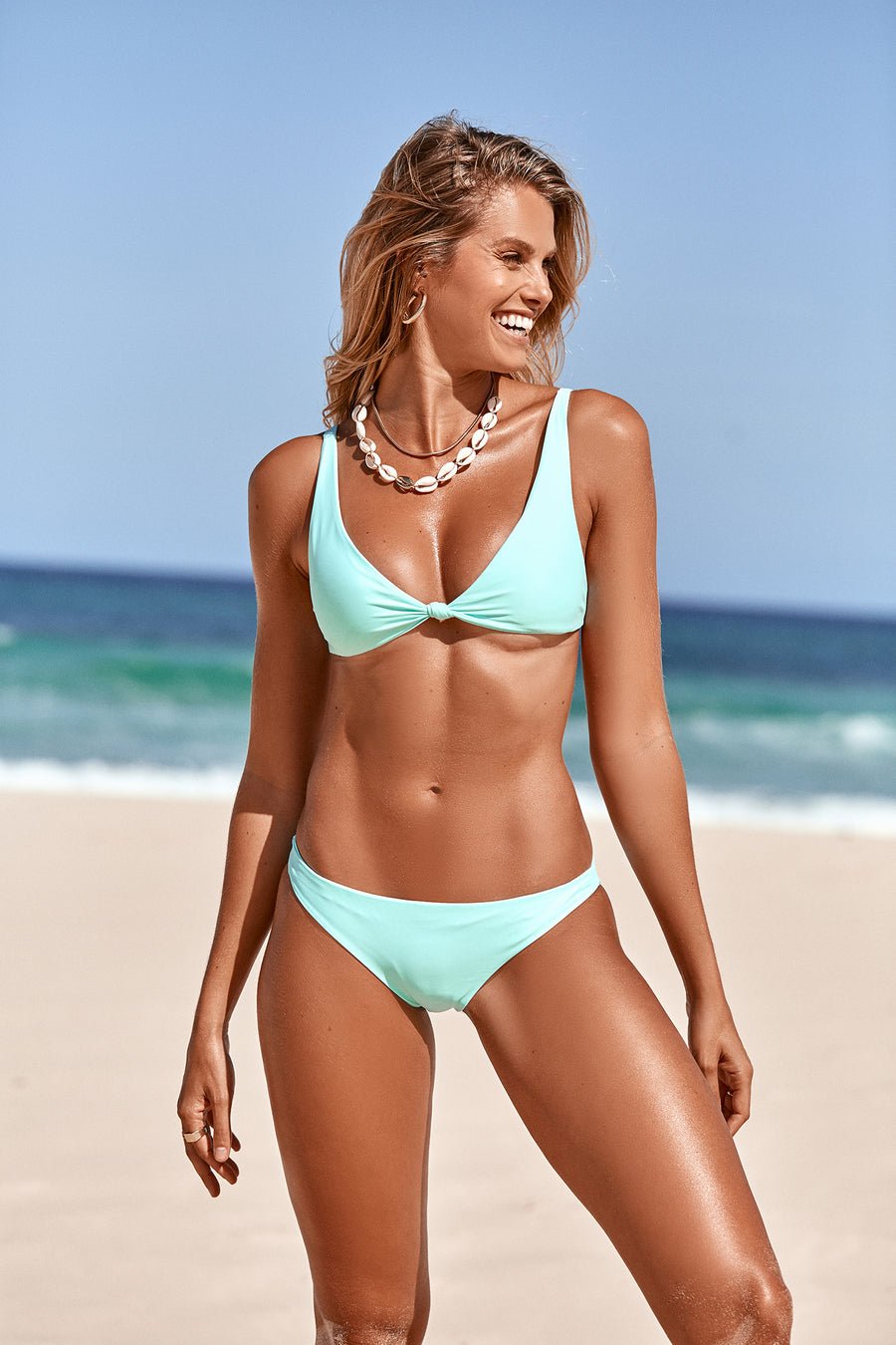 Rhea Mint Green Triangle Bikini