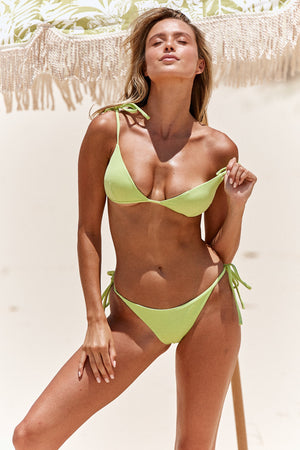 lime green bikini bottoms