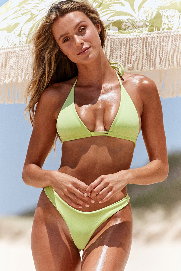 lime green string bikini