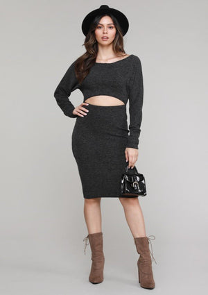 Fall So Hard Ribbed Dress