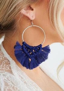 So Boho Blue Earrings