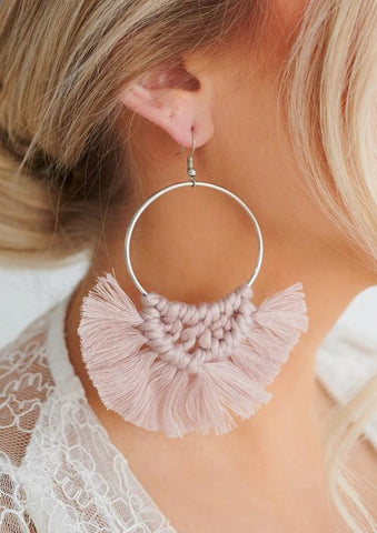 So Boho Pink Earrings