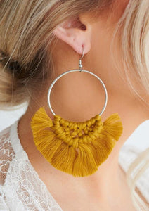 So Boho Yellow Earrings