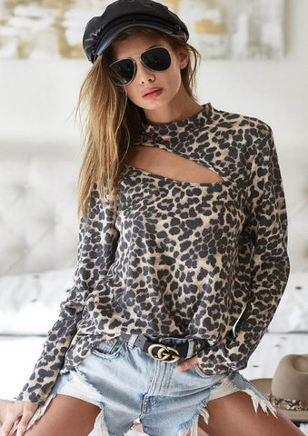 Set Me Free Leopard Top