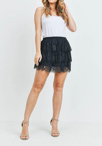 Mine All Mine Lace Tiered Skirt