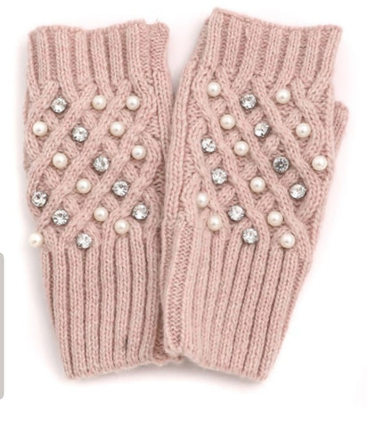 Bedazzled Fingerless Gloves