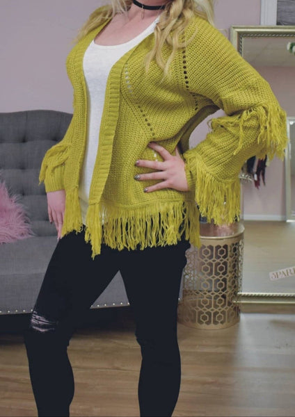 Fringe Benefits Cardigan