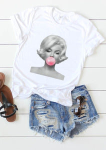 Marilyn Bubblegum Graphic Tee