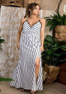 Summer Breeze Striped Maxi Dress