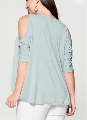 Hopeless In Love Drape Top