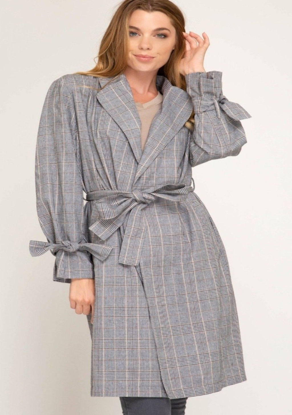 Timeless Plaid Duster Jacket