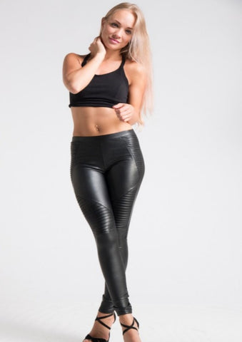 Alluring Moto Leather Leggings