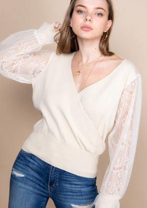 What About Love Lace Sweater
