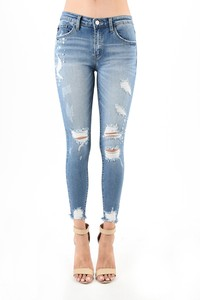 High Maintenance Distressed Jeans
