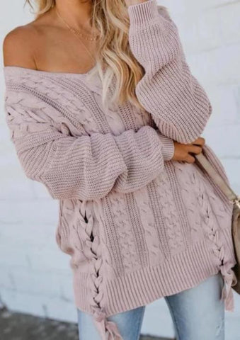 Amara Lace-Up Sweater