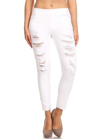 Rough Around the Edges White Pant