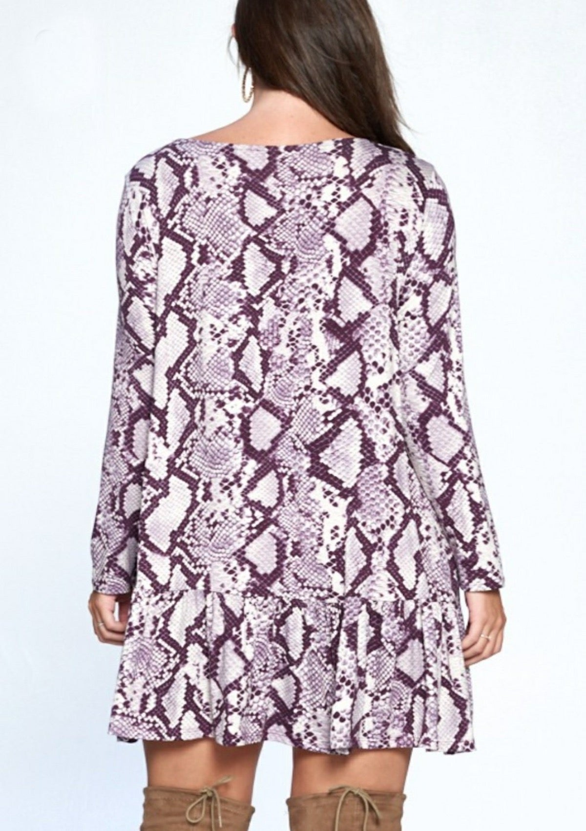 Time Flies Snakeskin Dress