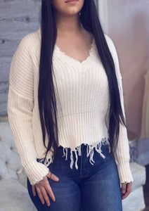 Samantha Distressed Sweater