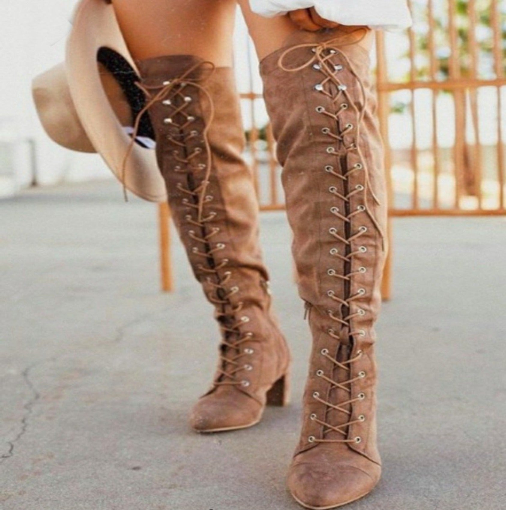 Foxy Lace Up Boots