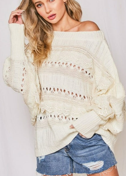 Ready For Anything Lace Sweater
