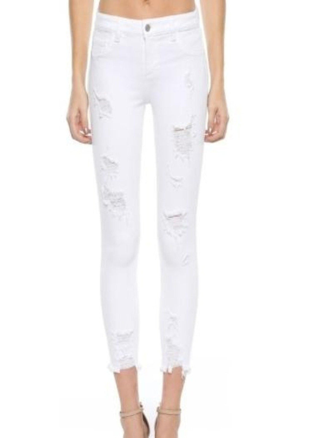 Nobody But You White distressed Cello Jeans