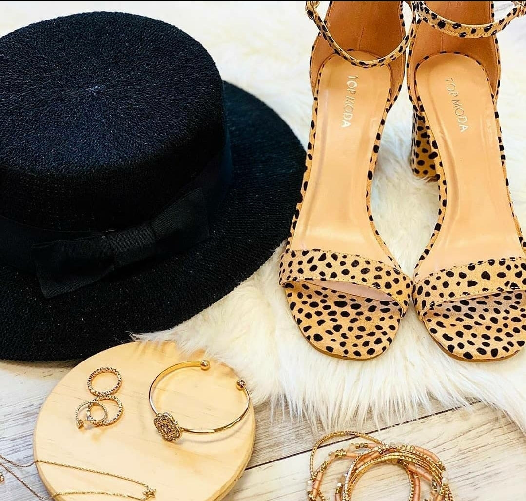 So Cheetah Chunky Heels
