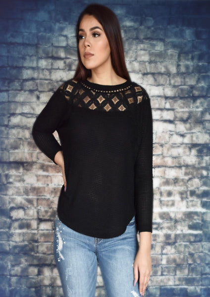 Chilly Nights Thermal Knit Top