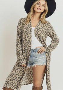 Lean On Me Leopard Cardigan