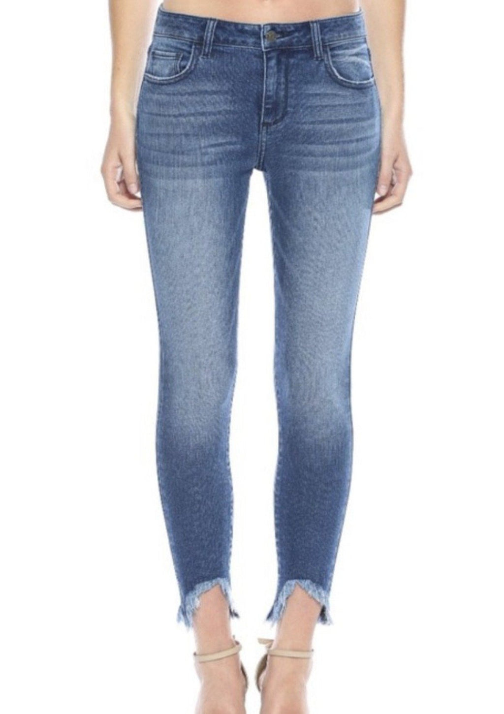 Slayed Frayed Bottom Cello Jeans