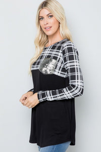 Faith In Me Sequin Pocket Top