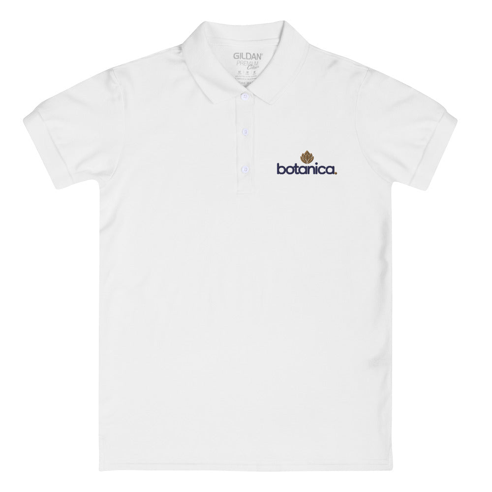 Botancia Embroidered Women's Polo Shirt - Botanica CBD