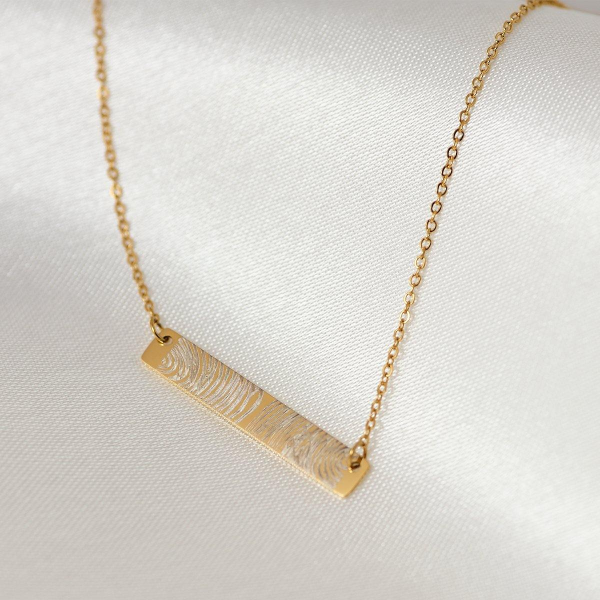 Bar Fingerprint Necklace - Duton Gepersonaliseerde sieraden