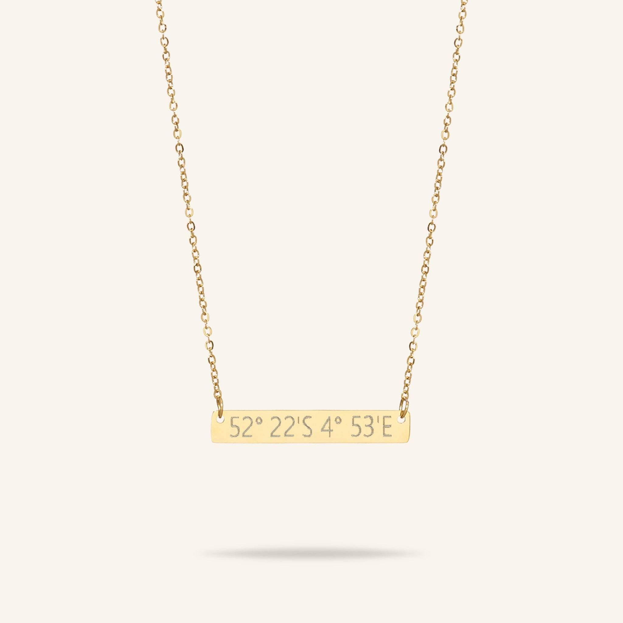 Bar Coordinates Necklace
