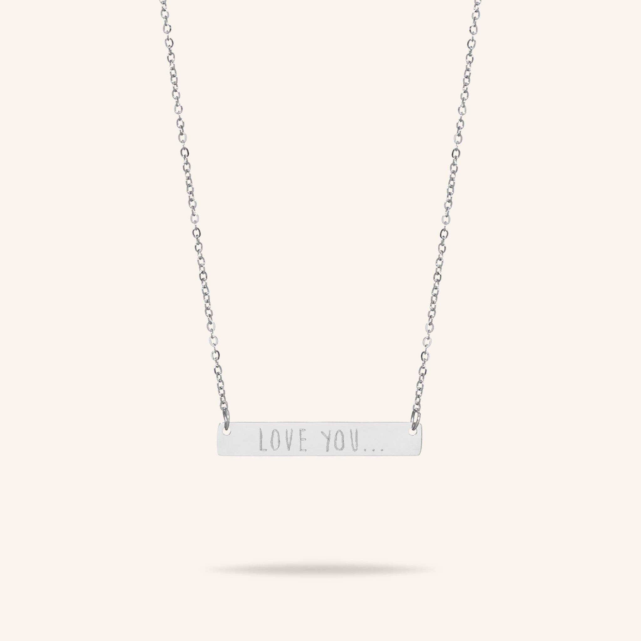 Bar Text Necklace