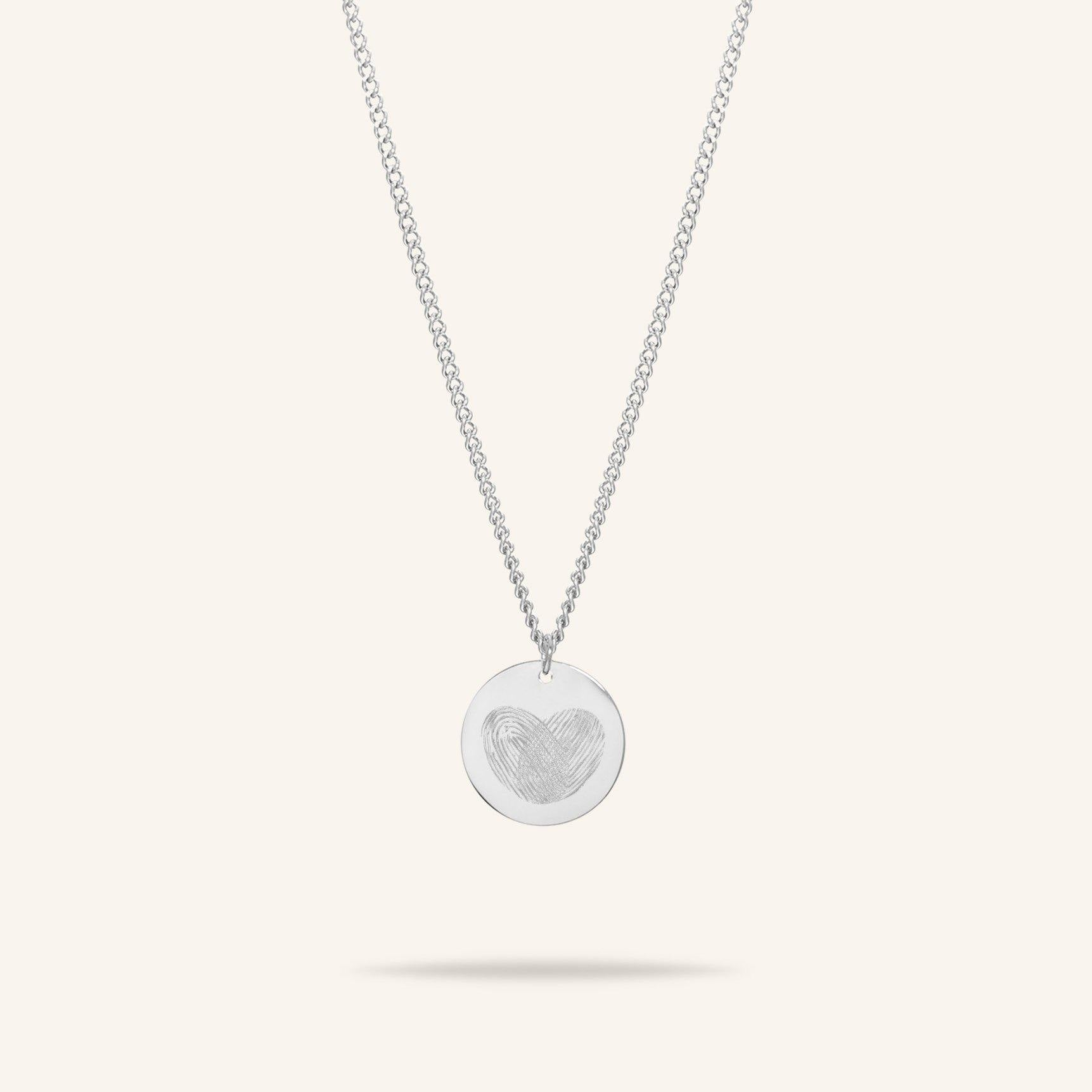 Coin 2 Fingerprints Necklace
