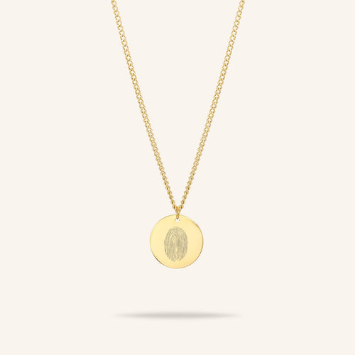 Coin Fingerprint Necklace