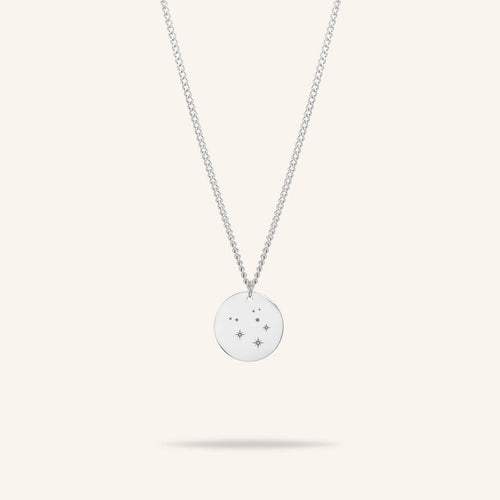 Starsign Coin Necklace Zilver
