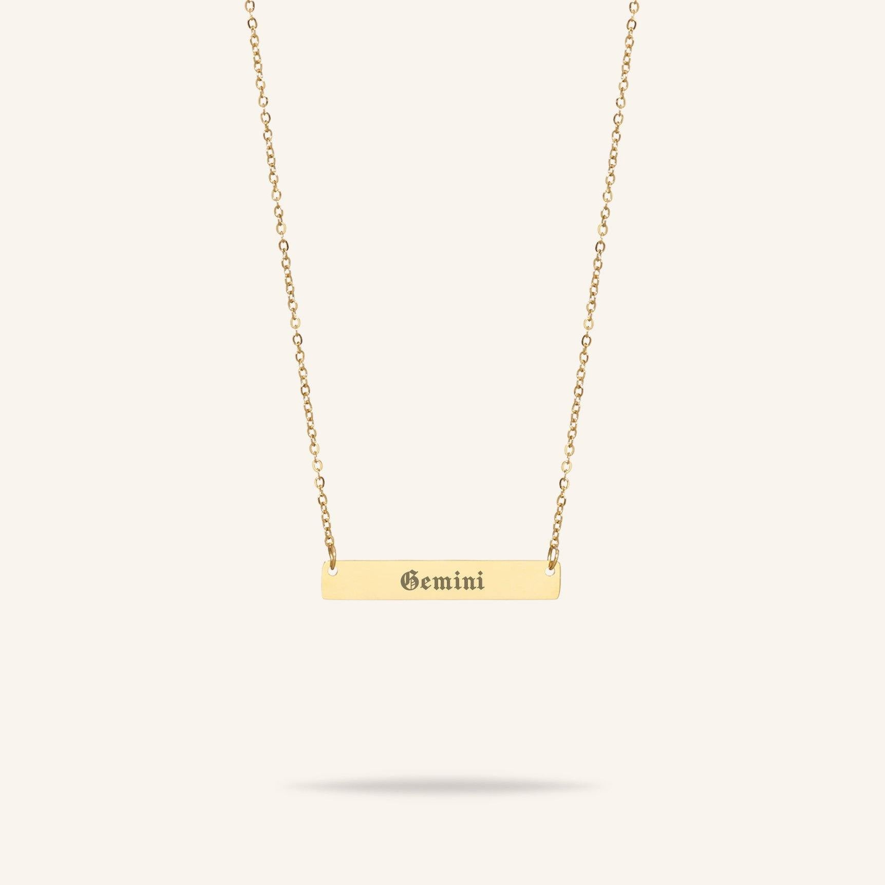 Starsign - Starsign Bar Necklace Goud