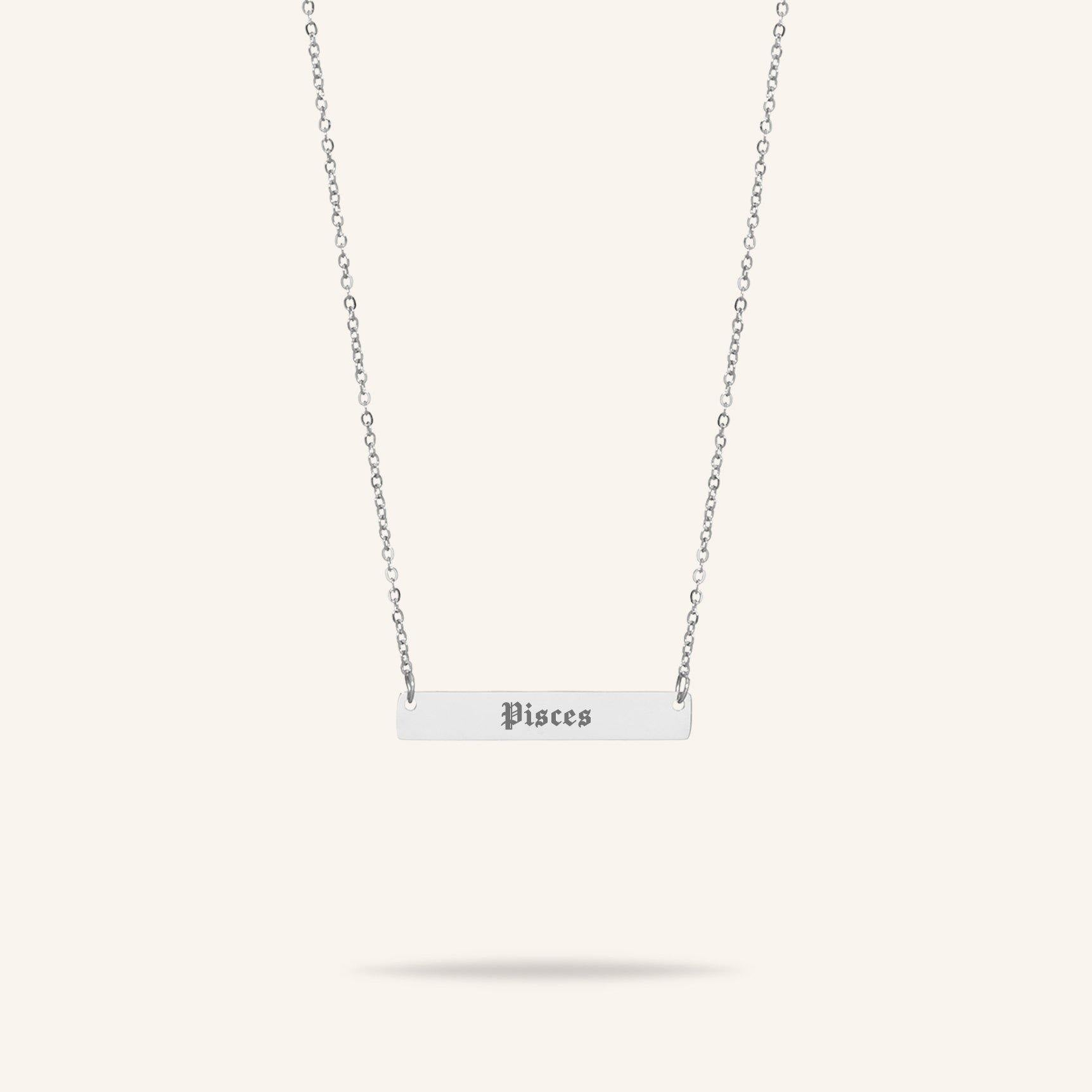 Starsign - Starsign Bar Necklace Zilver