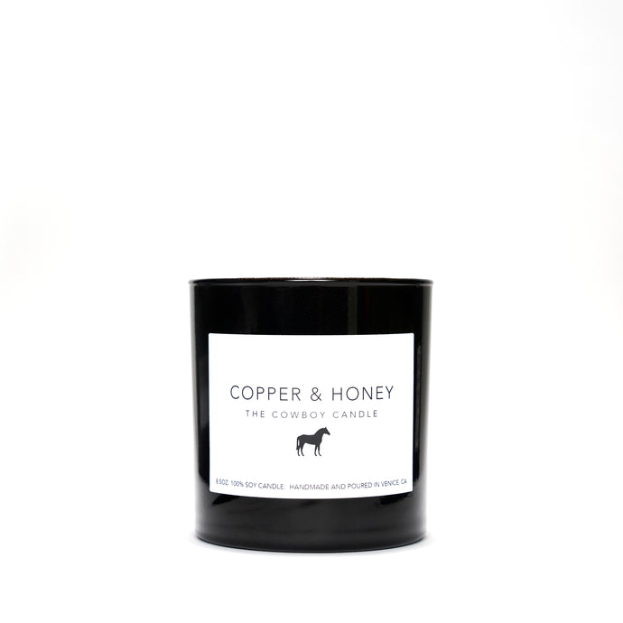 cowboy candle - black jar