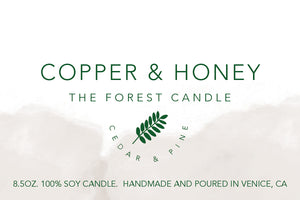 the forest candle - cedar & pine